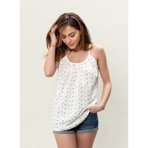 Damen Allover Druck Top - offwhite