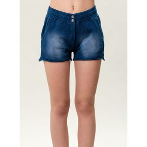 Damen Garment Dyed Shorts - indigo