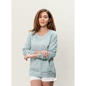 Damen Garment Dyed Sweatshirt - moss green
