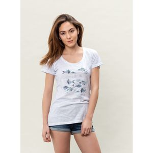 Damen Garment Dyed T-Shirt - ice blue