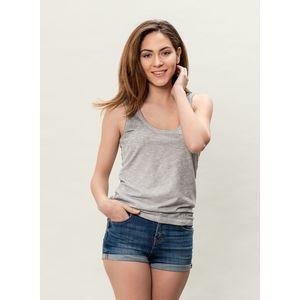 Damen Garment Dyed Tank Top - grey
