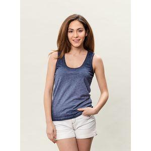 Damen Garment Dyed Tank Top - indigo