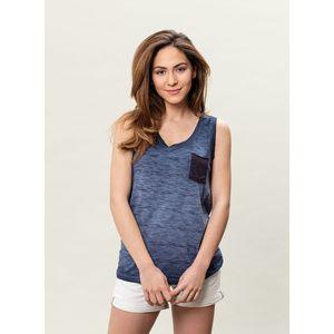 Damen Garment Dyed Tanktop - indigo
