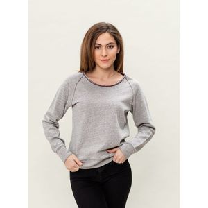 Damen Reglan Sweater - grey/burgundy