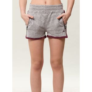 Damen Shorts - grey/burgundy