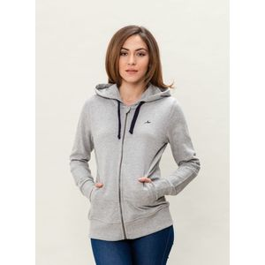 Damen Sweatjacke - grey melange