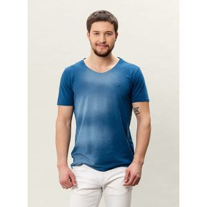 Herren Garment Dyed & Sprayed T-shirt - indigo