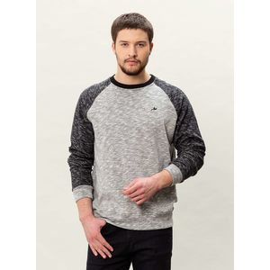 Herren Raglan Sweatshirt - black/grey