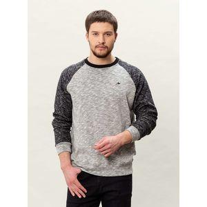 Herren Raglan Sweatshirt - black/grey