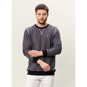 Herren Sweatshirt - navy/offwhite