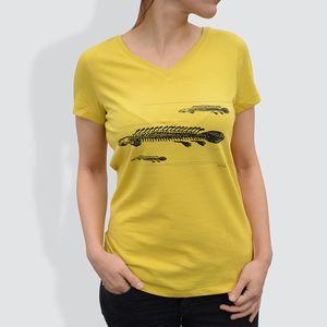 Damen T-Shirt - Fische Gelb