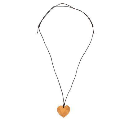Halskette Herz aus Olivenholz