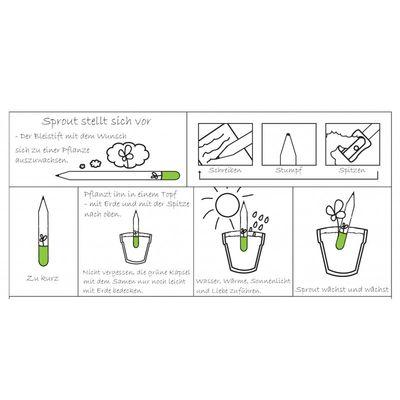 """""""Sprout"""" Der Bleistift zum Einpflanzen Basilikum"""