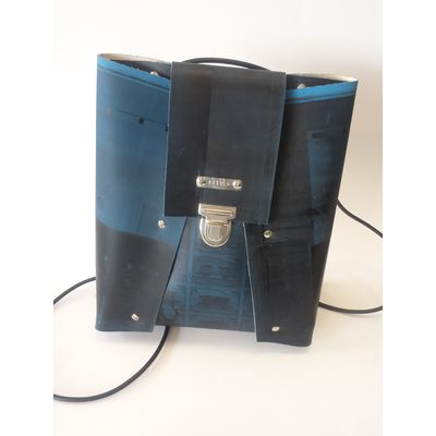 BackPack small - dunkelblau/schwarz