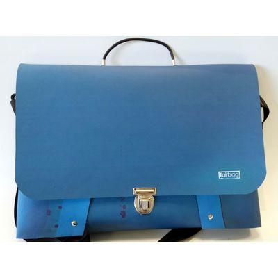 Laptoptasche - blau mit Muster