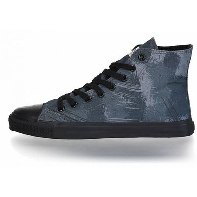 Fair Trainer Black Cap Hi Cut Collection 18 Dove Camo Indigo | Jet Black